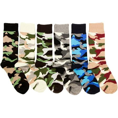 Freedom Men's 6 Pack of Colorful Fashion Dress Socks