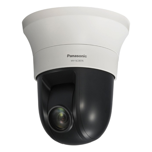 """Panasonic WV-SC387A Indoor HD PTZ Network Dome Camera"" by Panasonic BTS"