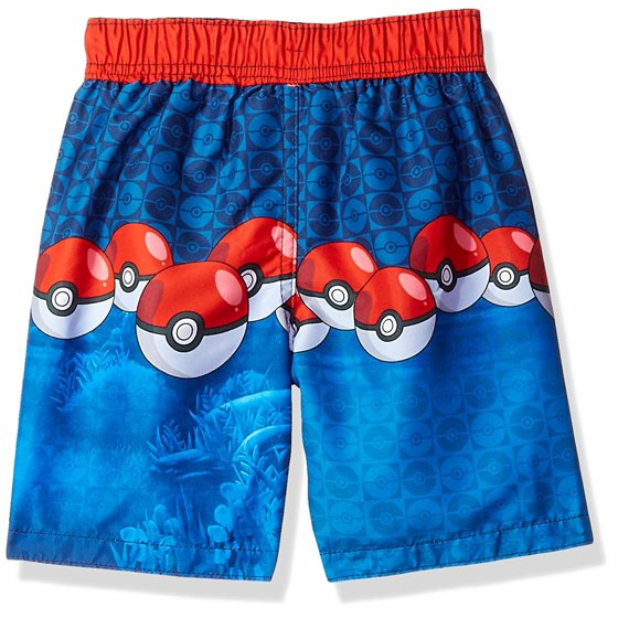 abf301615f Pokémon - Pokemon Big/Little Boys' Pikachu Swim Trunks Board Shorts ...