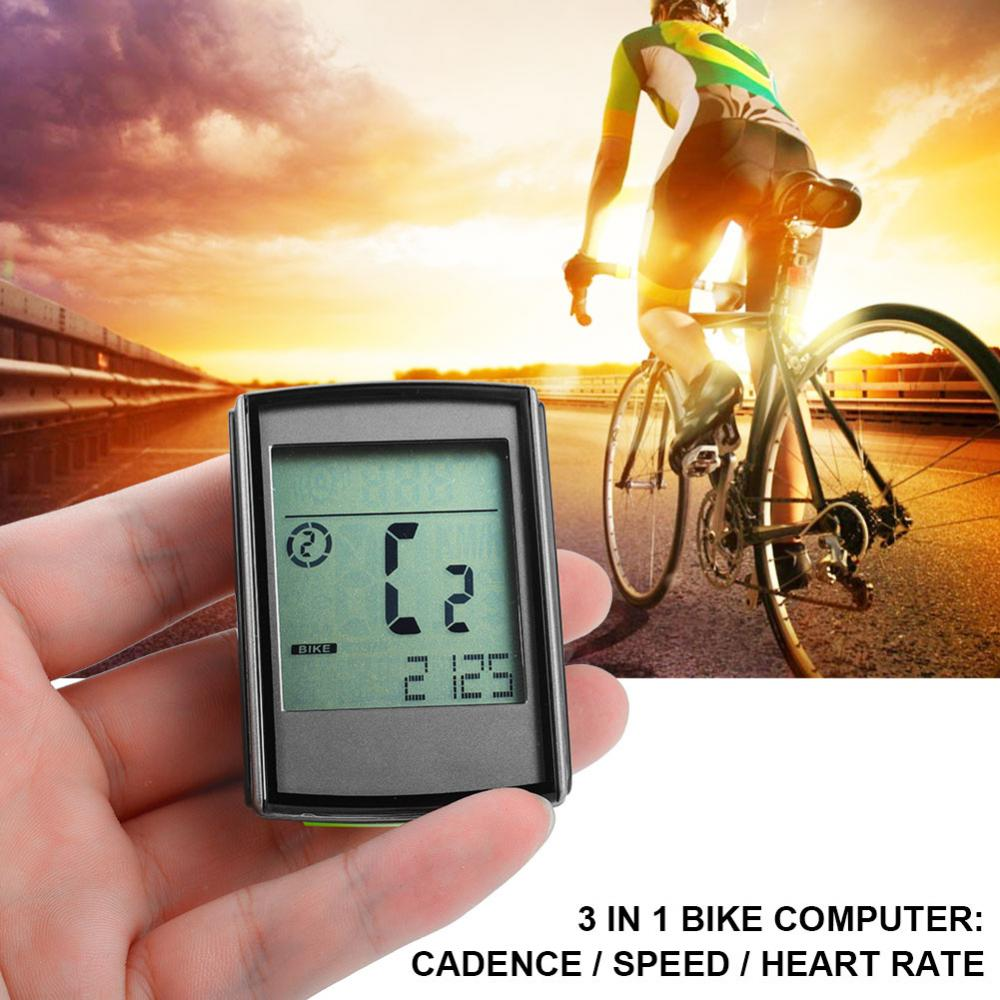 Waterproof Wireless Bike Computer Heart Rate Sensor LCD Screen Cycling Accessory Kit, Bike Odemeter, Bike Speedometer