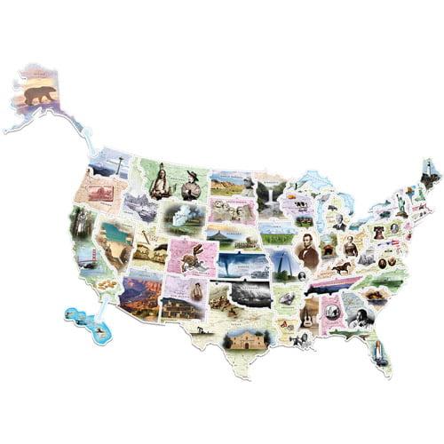 Chenille Kraft WonderFoam USA Photo Map Floor Puzzle