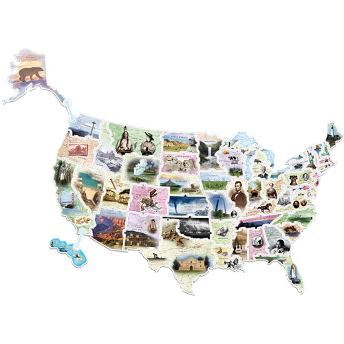 Chenille Kraft WonderFoam USA Photo Map Floor Puzzle