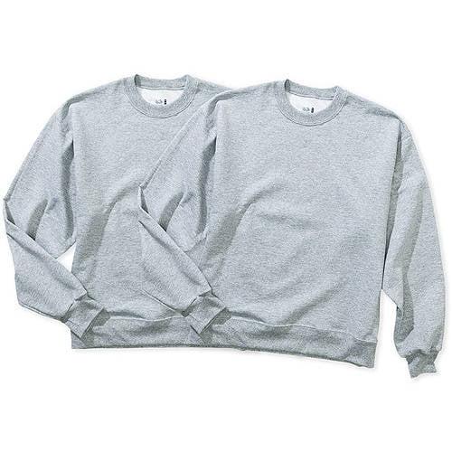 Fruit of the Loom Men's Fleece Crew Sweatshirt, 2 Pack