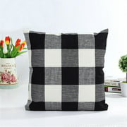 Classic Retro Plaid Decorative Throw Pillow Case Cushion Cover 18''x18'' Pillowcase Pillowslip Protector Home Bedroom Couch Sofa Bed Patio Chair
