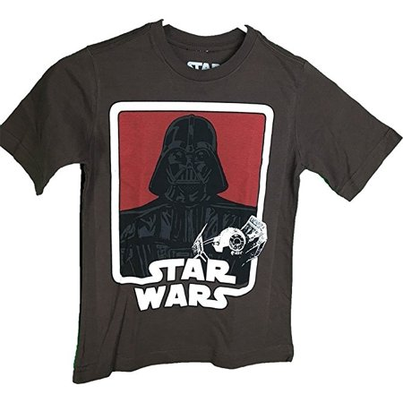 Star Wars Darth Vader Tie Fighter Graphic Youth Brown T-Shirt (Large 14/16) - Woman Darth Vader