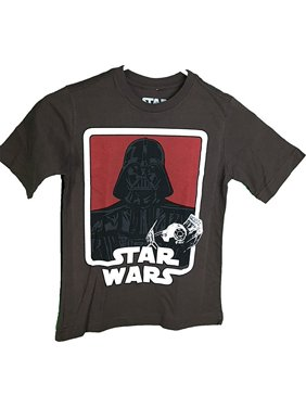 652e5e3fe Product Image Star Wars Darth Vader Tie Fighter Graphic Youth Brown T-Shirt  (Large 14/