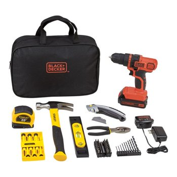 66-Pc. Black+Decker and Stanley 20V Drill Driver and Project Kit
