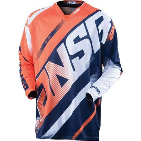 Orange/Navy/White Sz S Answer Racing Alpha Motocross Jersey