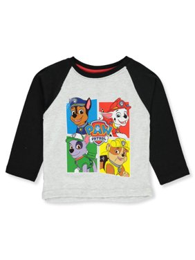 Paw Patrol Boys' Character Blocks L/S T-Shirt