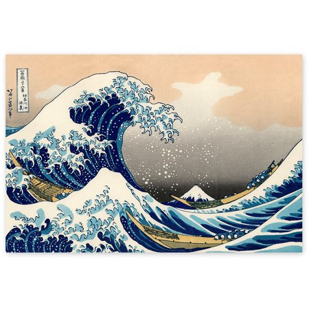 Awkward Styles Under a Wave off Kanagawa Katsushika Hokusai Painter Classic Art Piece The Great Wave off Kanagawa Japanese Art The Wave Poster Wall Decor Wave Unframed Artwork Printed Art Picture (The Waves Pictures)