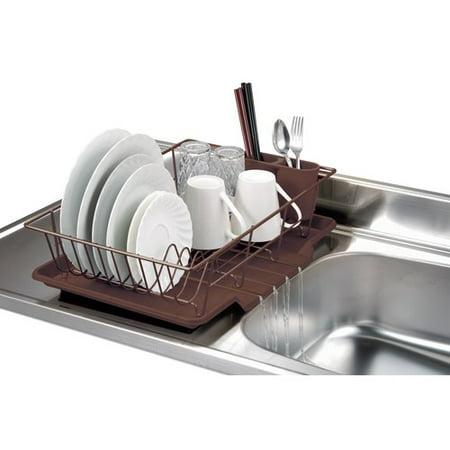 Home Basics 3 Piece Dish Rack With Tray