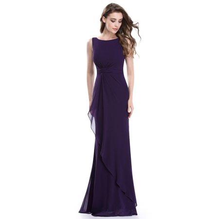 1eeab8b130 Ever-pretty - Ever-Pretty Purple Bridesmaid Dress Ruched Waist Evening Prom  Party Dresses 08796 - Walmart.com