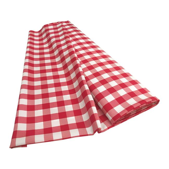 LA Linen CheckBolt-10Yrd-FuchsiaK49 10 Yards Gingham Checkered Flat Fold, White & Fuchsia