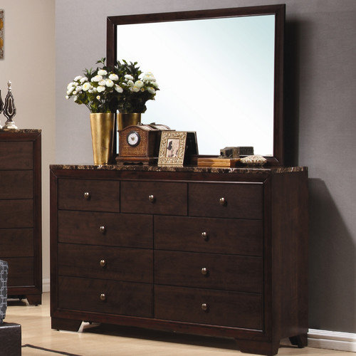 Wildon Home Annetta South 9 Drawer Dresser with Mirror