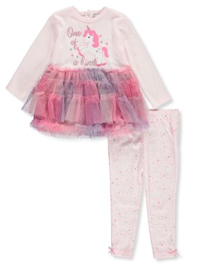Quiltex Baby Girls' One of a Kind 2-Piece Leggings Set Outfit