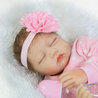 Full Realistic Silicone Baby Dolls Reborn Baby Doll One-piece With Clothes Fashionable Lovely Girl Pink Rabbit Europe America