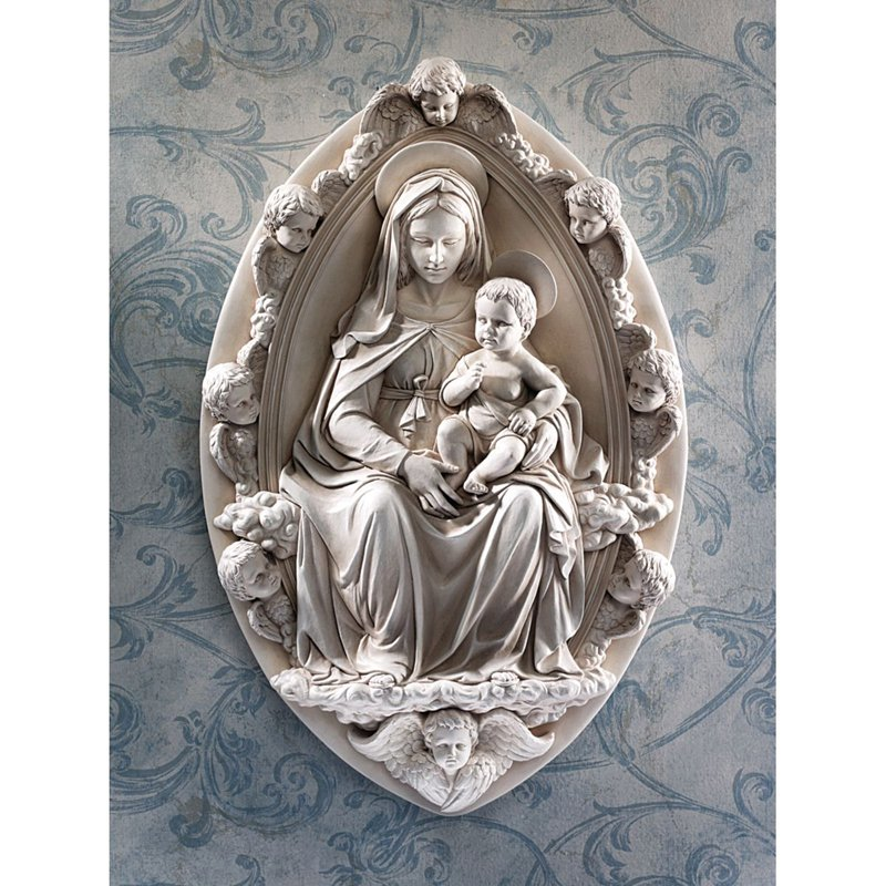 Madonna And Child Plaque By Rossellino Design Toscano