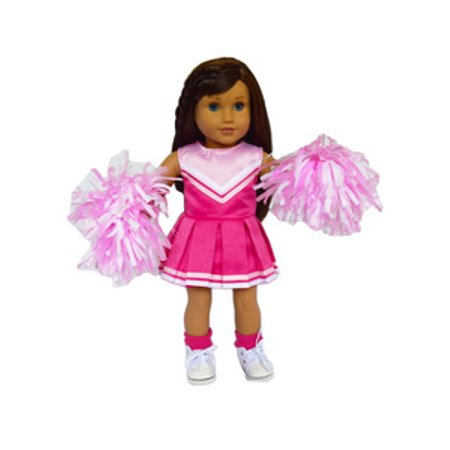 My Brittany's Pink Cheerleader Outfit for American Girl Dolls-18 Inch Doll Clothes- Shoes and Socks Not Included](Cheerleaders Outfits)