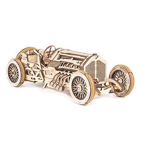 Engineering Toys For Adults (UGEARS U-9 Grand Prix Car 3D Mechanical Wooden Puzzle - Self Assembling Craft Set - Brain Teaser Educational And Engineering Toy For Teens,)