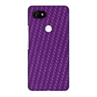 Google Pixel 2 XL Case, Premium Handcrafted Printed Designer Hard Snap On Case Back Cover with Screen Cleaning Kit for Google Pixel 2 XL - Carbon Fibre Redux Electric Violet 3