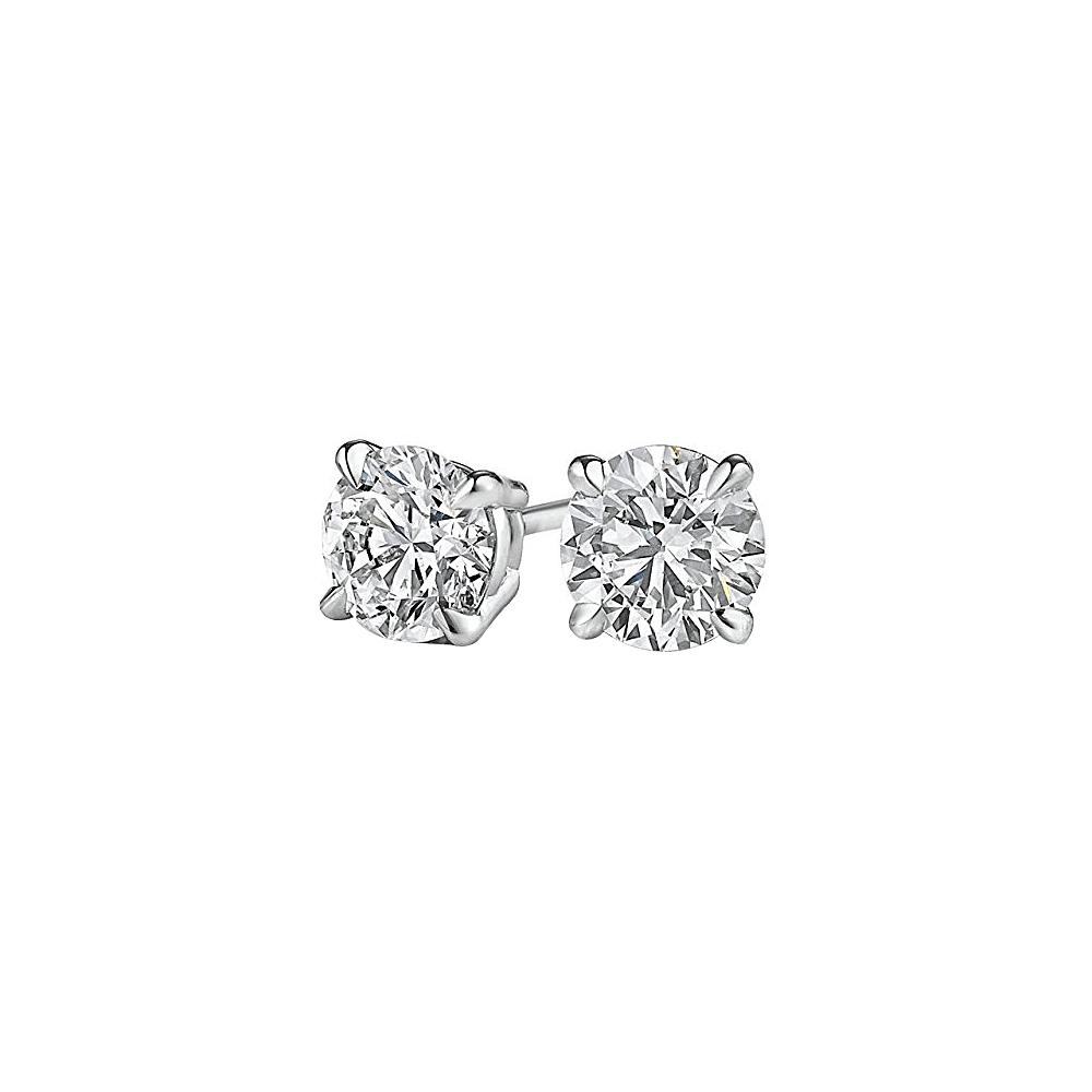Diamond Stud Earrings In White Gold Cool Jewelry Gift Walmart Canada