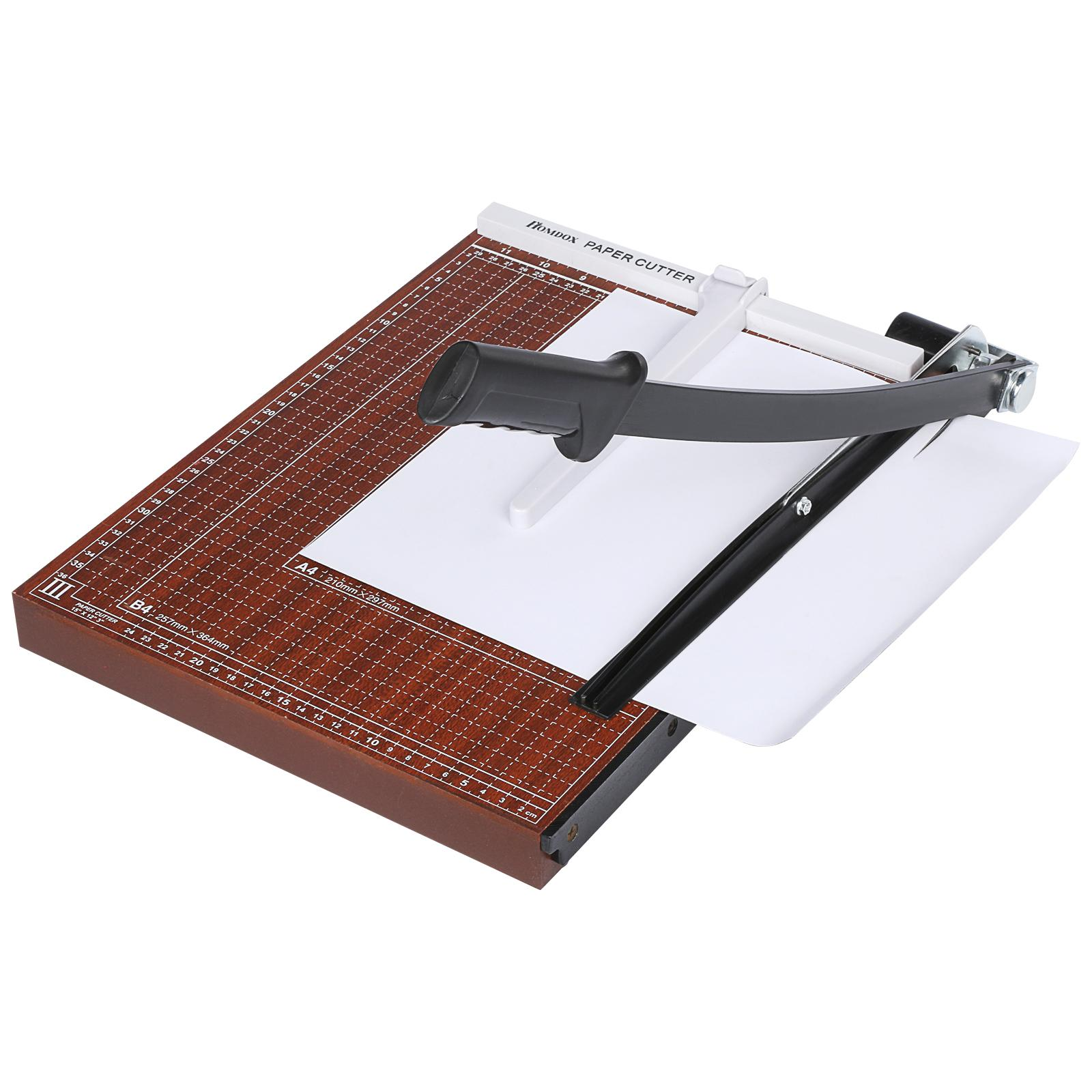 12 SHeets Guillotine Paper Cutter Wooden Heavy Paper Trimmer, Home Office Paper Cutter A4, B5, A5, B6, B7 by Unbrand