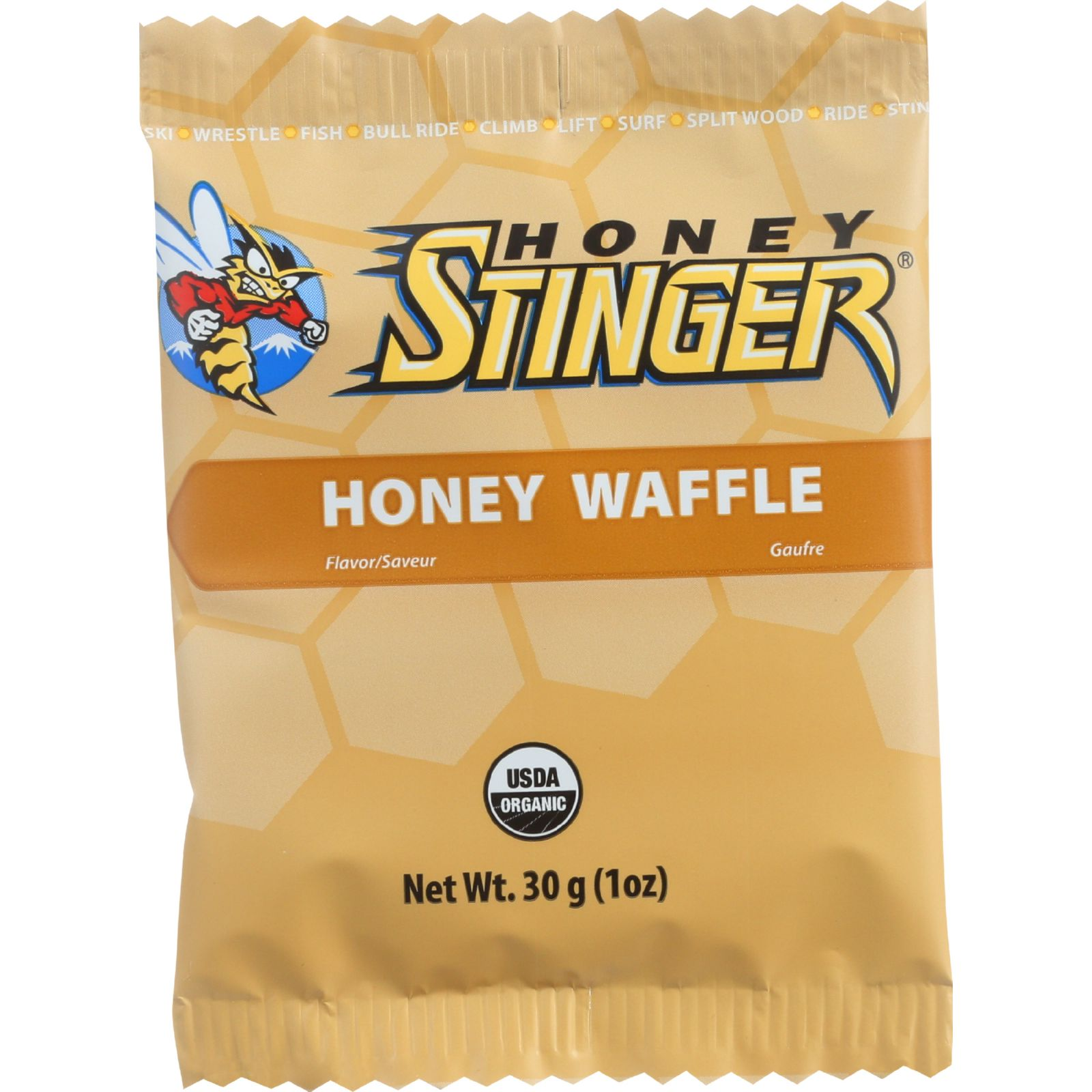 Honey Stinger Waffle Organic Honey 1 oz case of 16 by