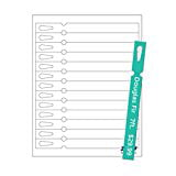 "Print-Ready Tags, Multi-Purpose (No-Tear Waterproof), 3/4"" x 8"", 13-UP on 8-1/2"" x 11"" White Synthetic 10-Mil Paper - 25 Sheets"