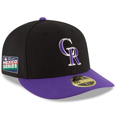Colorado Rockies New Era 2019 Mexico Series Authentic Collection Low Profile 59FIFTY Fitted Hat - Black/Purple