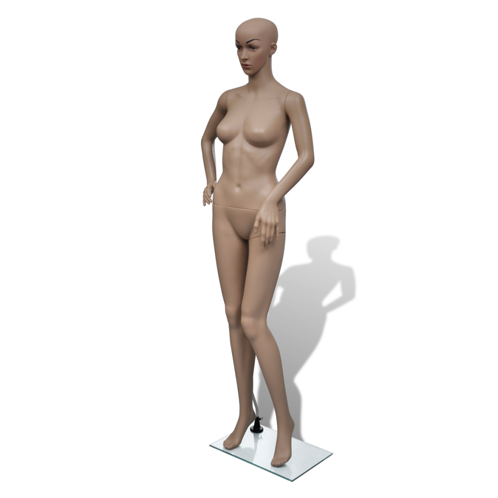 Female Full Body Mannequin Head Turn Dress Form with Base Display