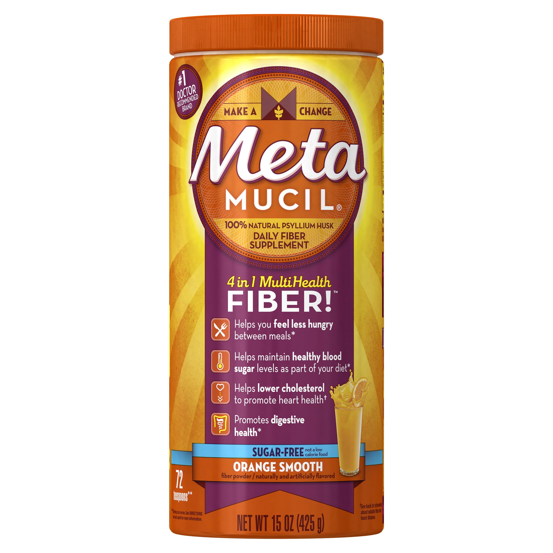 Metamucil Multi Health Psyllium Fiber Supplement Sugar Free Powder