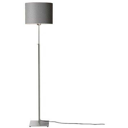 3 X Ikea 001 908 30 Alang Floor Lamp Nickel Plated Gray 34214 252 418 Walmart Com