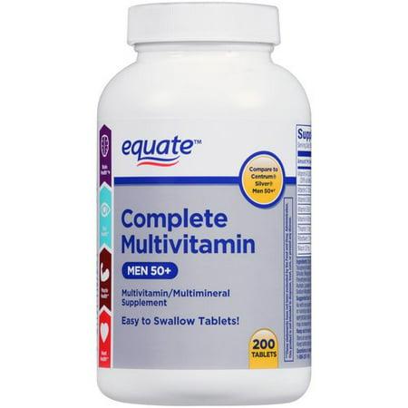 equate multivitamine complète pour supplément multivitamines / comprimés hommes, 200 count