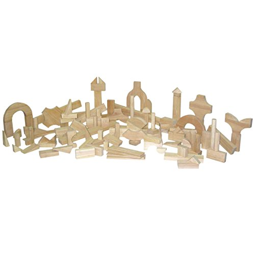 "Wood Designs 60400 Preschool Blocks 24 Shapes, 111 Pieces, 9.5"" Height, 9.5""... by Wood Designs"