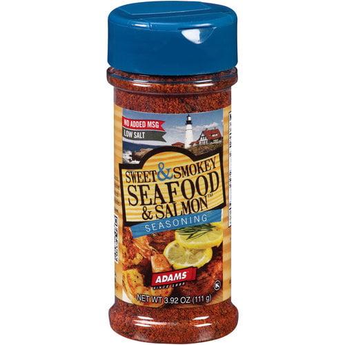Adams Sweet & Smokey Seafood & Salmon Seasoning, 3.92 oz