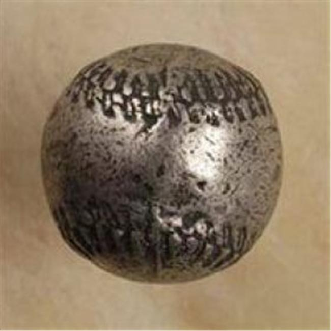 Anne at Home 886-17 Baseball Knob in Weathered White