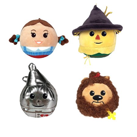 Hallmark Gifts Fluffball Wizard of Oz Set of 4 Stuffed Plush Hanging Toys - Dorothy, Scarecrow, Cowardly Lion & Tin Man - Walmart.com