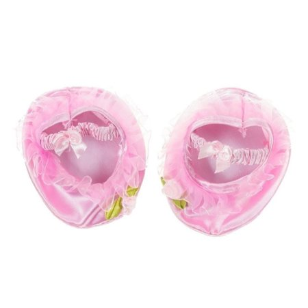 Pink Satin Ballet Slippers with Rose Fits Most Stuffed Animals 14