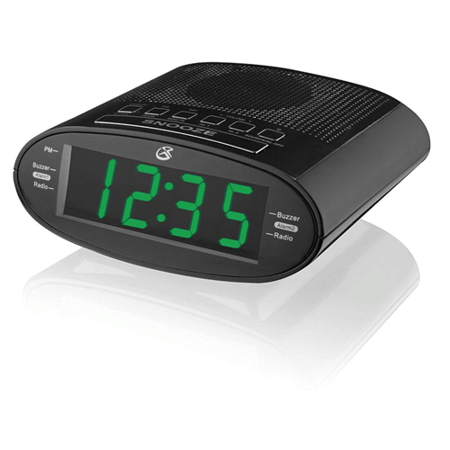 Time Zones Daylight - GPX C303B Dual Alarm Clock AM/FM Radio with Time Zone/Daylight Savings Control Black - Refurbished