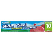 POWERHOUSE 92797-1 Freezer Storage Bag, Slide & Seal, Gal., 10-Ct. - Quantity 24