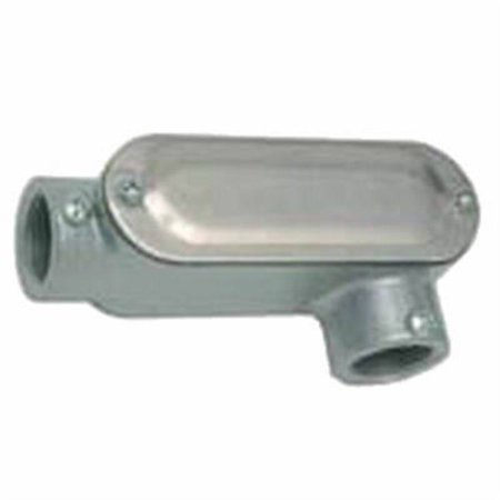 Racoorporated RLL050 Rigid/IMC Conduit Fitting, Oval Thread Body, Gray Die-Cast Aluminum, (12 Oval Body)
