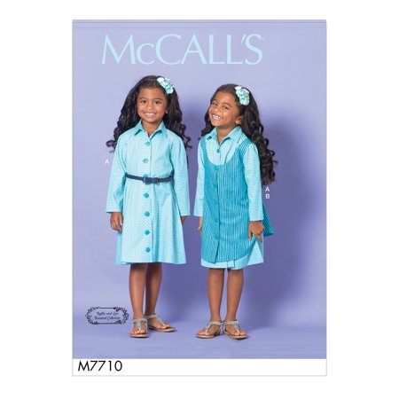 Mccalls Child Girls Dress & Pinafore-6-7-8 - image 1 de 1