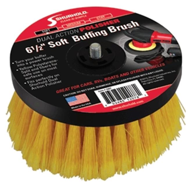 Shurhold 3207 Soft Brush for Dual Action Polisher, 6. 5 inch