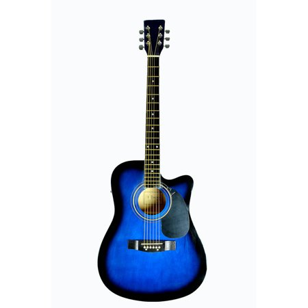 directly cheap full size 41 cutaway acoustic electric guitar with 3 band eq equalizer blue. Black Bedroom Furniture Sets. Home Design Ideas