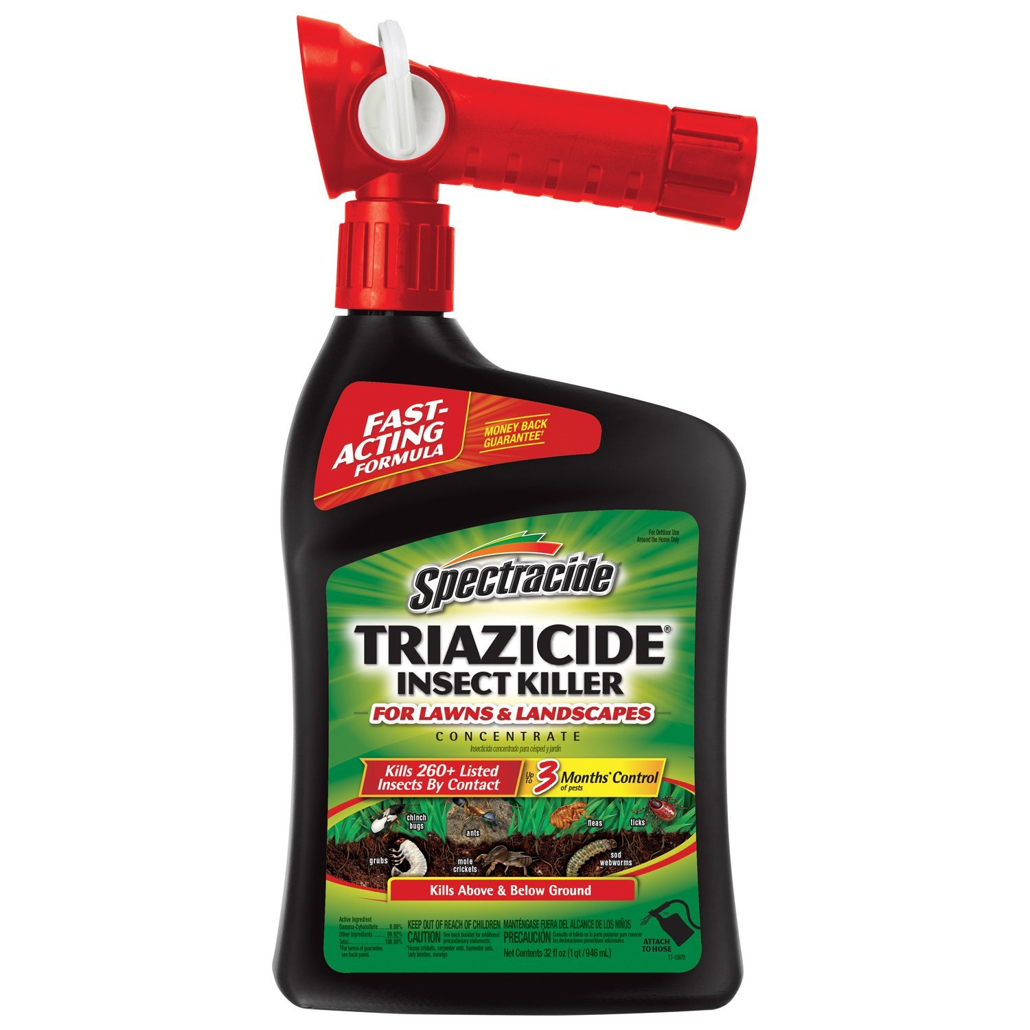 Spectracide Triazicide Insect Killer for Lawns & Landscapes Concentrate, Ready-to-Spray, 32-fl oz