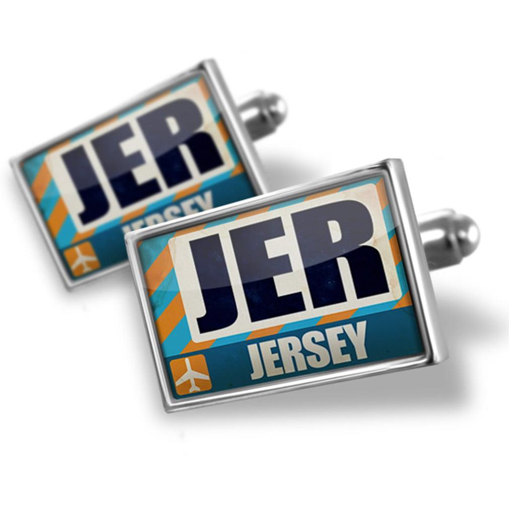 Cufflinks Airportcode JER Jersey - NEONBLOND