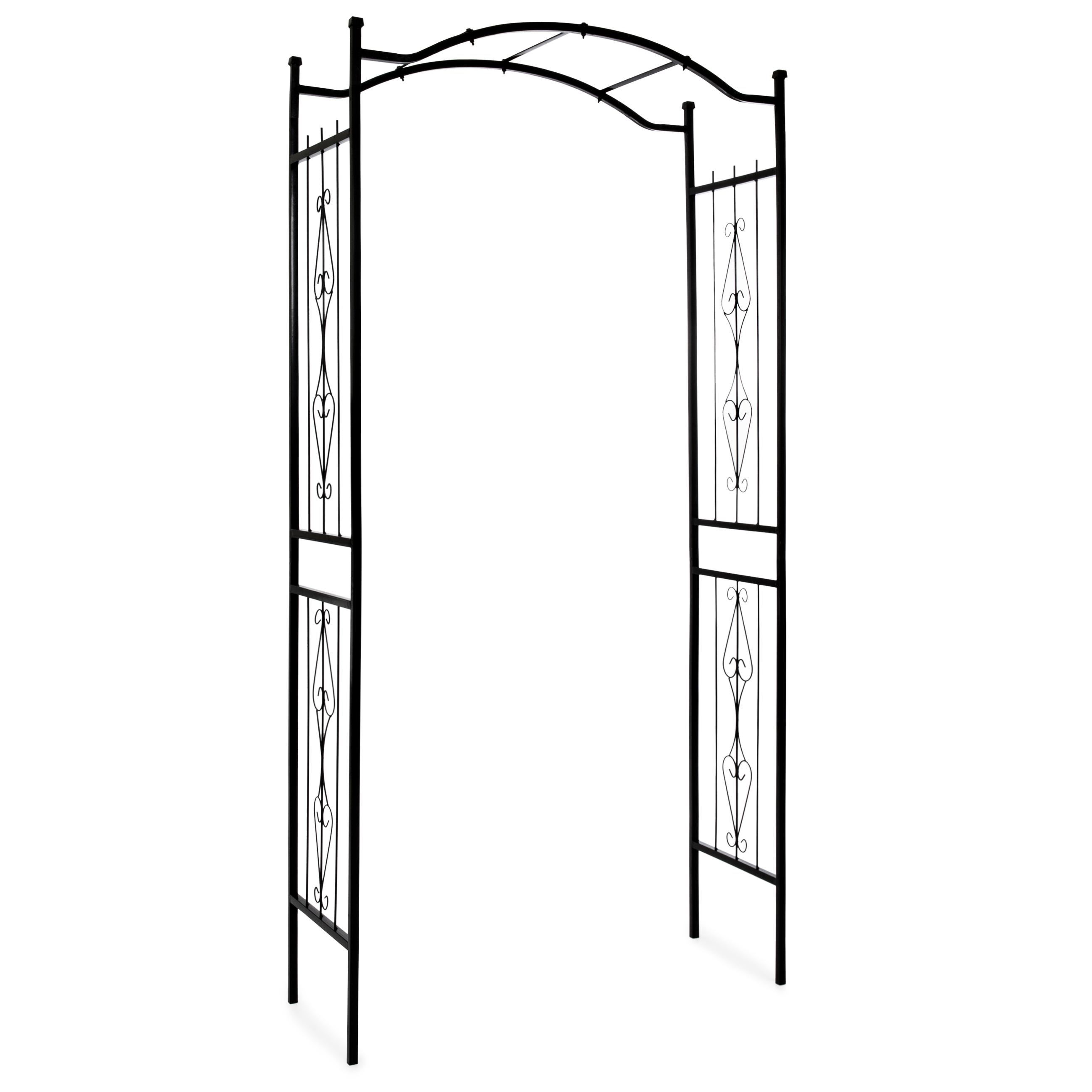 Best Choice Products Steel Garden Arch Arbor Decorative Climbing Plant Trellis (Black) by