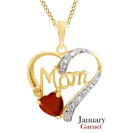 MOM Heart Pendant Pendant Necklace in 925 Sterling Silver 925 Sterling Silver Heart Pendant