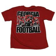 Georgia Bulldogs Youth Raised Helmets Football T-shirt