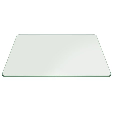 16x24 Inch Rectangle Tempered Glass Table Top 3/8